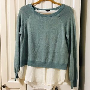 Beautiful Sparkly Mixed Fabric Sweater NWOT Sz S